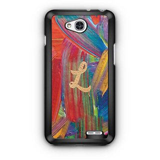YuBingo Monogram with Beautifully Written Funky Colourful Paint Finish letter L Designer Mobile Case Back Cover for LG L90
