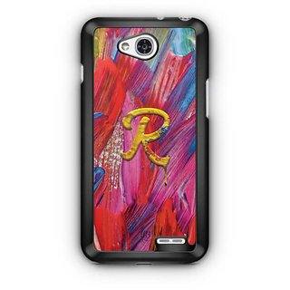 YuBingo Monogram with Beautifully Written Funky Colourful Paint Finish letter R Designer Mobile Case Back Cover for LG L90
