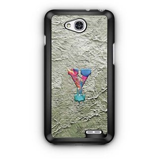YuBingo Monogram with Beautifully Written Funky Colourful Paint Finish letter Y Designer Mobile Case Back Cover for LG L90