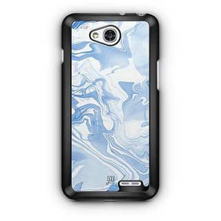 YuBingo Classic Blue Marble Finish (Plastic) Designer Mobile Case Back Cover for LG L90