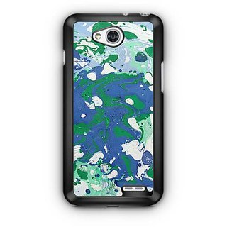 YuBingo Blue Green Marble Finish (Plastic) Designer Mobile Case Back Cover for LG L90