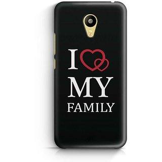 YuBingo I Love My Family Designer Mobile Case Back Cover for Meizu M3
