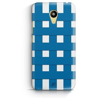 YuBingo Blue Square Pattern Designer Mobile Case Back Cover for Meizu M3