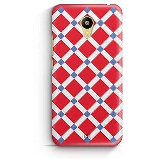 YuBingo Red Square Pattern Designer Mobile Case Back Cover for Meizu M3