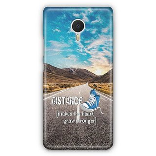 YuBingo Distance makes the Heart Grow Stronger Designer Mobile Case Back Cover for Meizu M3 Note