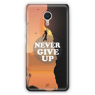 YuBingo Never Give Up Designer Mobile Case Back Cover for Meizu M3 Note
