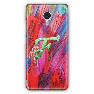 YuBingo Monogram with Beautifully Written Funky Colourful Paint Finish letter F Designer Mobile Case Back Cover for Meizu M3 Note