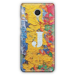 YuBingo Monogram with Beautifully Written Funky Colourful Paint Finish letter J Designer Mobile Case Back Cover for Meizu M3 Note