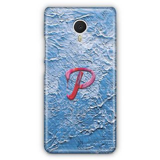 YuBingo Monogram with Beautifully Written Funky Colourful Paint Finish letter P Designer Mobile Case Back Cover for Meizu M3 Note