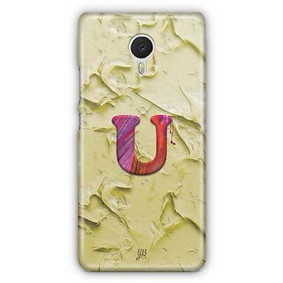 YuBingo Monogram with Beautifully Written Funky Colourful Paint Finish letter U Designer Mobile Case Back Cover for Meizu M3 Note