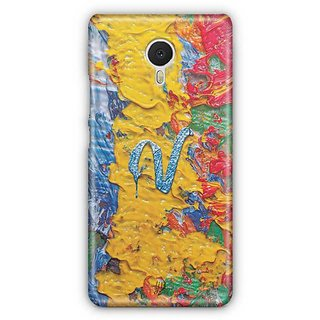 YuBingo Monogram with Beautifully Written Funky Colourful Paint Finish letter V Designer Mobile Case Back Cover for Meizu M3 Note