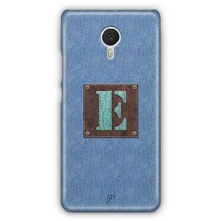 YuBingo Monogram with Beautifully Written Jeans and Macho Male Leather Finish letter E Designer Mobile Case Back Cover for Meizu M3 Note