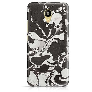 YuBingo Black and White Marble Finish (Plastic) Designer Mobile Case Back Cover for Meizu M3
