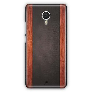 YuBingo Leather and Wood Finish (Plastic) Designer Mobile Case Back Cover for Meizu M3 Note