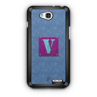 YuBingo Monogram with Beautifully Written Jeans and Girly Leather Finish letter V Designer Mobile Case Back Cover for LG L90