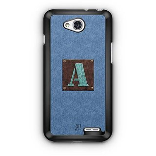 YuBingo Monogram with Beautifully Written Jeans and Macho Male Leather Finish letter A Designer Mobile Case Back Cover for LG L90