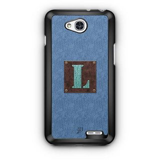YuBingo Monogram with Beautifully Written Jeans and Macho Male Leather Finish letter L Designer Mobile Case Back Cover for LG L90