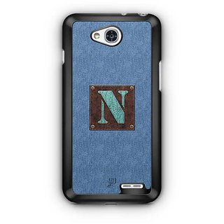 YuBingo Monogram with Beautifully Written Jeans and Macho Male Leather Finish letter N Designer Mobile Case Back Cover for LG L90