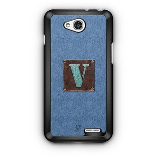 YuBingo Monogram with Beautifully Written Jeans and Macho Male Leather Finish letter V Designer Mobile Case Back Cover for LG L90