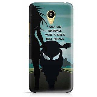 YuBingo Who Said Diamonds are a girl's Best Friends? Designer Mobile Case Back Cover for Meizu M3