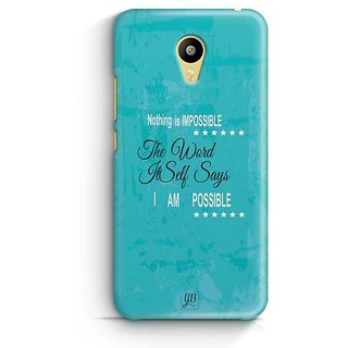 YuBingo Nothing is Impossible Designer Mobile Case Back Cover for Meizu M3
