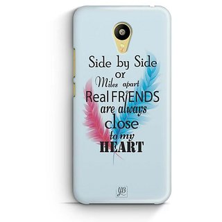 YuBingo Real Friends are close to my Heart Designer Mobile Case Back Cover for Meizu M3