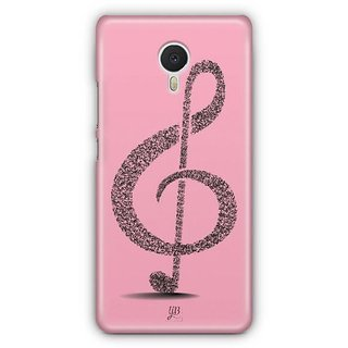 YuBingo Pink Musical Note Designer Mobile Case Back Cover for Meizu M3 Note