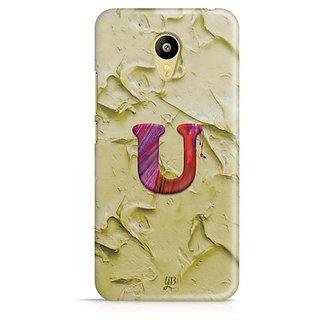 YuBingo Monogram with Beautifully Written Funky Colourful Paint Finish letter U Designer Mobile Case Back Cover for Meizu M3