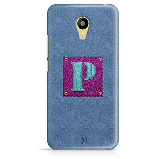 YuBingo Monogram with Beautifully Written Jeans and Girly Leather Finish letter P Designer Mobile Case Back Cover for Meizu M3