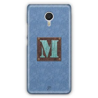 YuBingo Monogram with Beautifully Written Jeans and Macho Male Leather Finish letter M Designer Mobile Case Back Cover for Meizu M3 Note