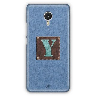 YuBingo Monogram with Beautifully Written Jeans and Macho Male Leather Finish letter Y Designer Mobile Case Back Cover for Meizu M3 Note
