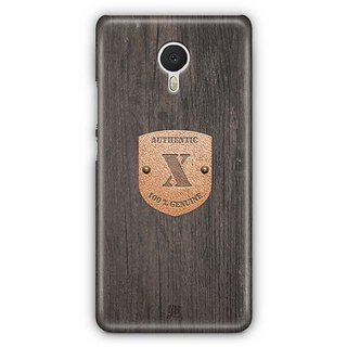 YuBingo Monogram with Beautifully Written Wooden and Metal (Plastic) Finish letter X Designer Mobile Case Back Cover for Meizu M3 Note