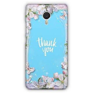 YuBingo Thank You Designer Mobile Case Back Cover for Meizu M3 Note
