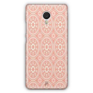 YuBingo Orange and white rangoli design Designer Mobile Case Back Cover for Meizu M3 Note