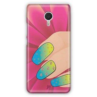 YuBingo Colourful Nails Designer Mobile Case Back Cover for Meizu M3 Note