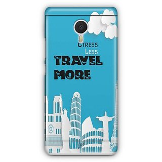 YuBingo Stress Less Travel More Designer Mobile Case Back Cover for Meizu M3 Note