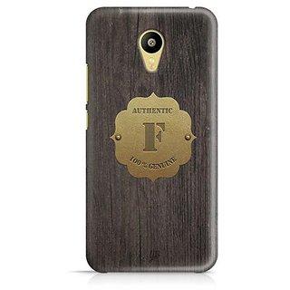 YuBingo Monogram with Beautifully Written Wooden and Metal (Plastic) Finish letter F Designer Mobile Case Back Cover for Meizu M3