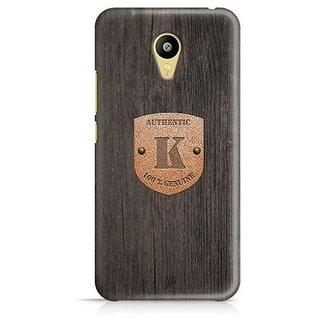 YuBingo Monogram with Beautifully Written Wooden and Metal (Plastic) Finish letter K Designer Mobile Case Back Cover for Meizu M3