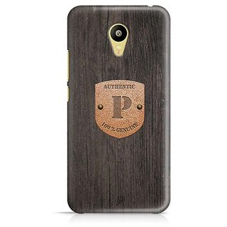 YuBingo Monogram with Beautifully Written Wooden and Metal (Plastic) Finish letter P Designer Mobile Case Back Cover for Meizu M3