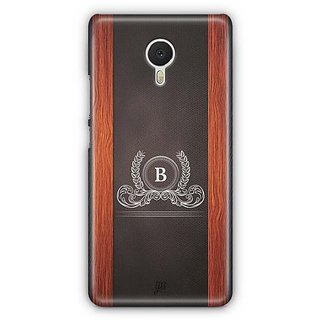YuBingo Monogram with Beautifully Written Wooden and Leather (Plastic) Finish letter B Designer Mobile Case Back Cover for Meizu M3 Note