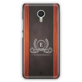 YuBingo Monogram with Beautifully Written Wooden and Leather (Plastic) Finish letter E Designer Mobile Case Back Cover for Meizu M3 Note
