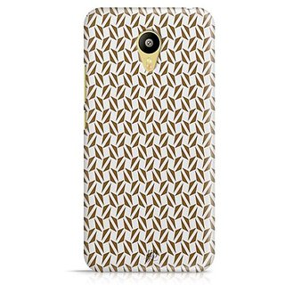 YuBingo Brown triangle pattern Designer Mobile Case Back Cover for Meizu M3