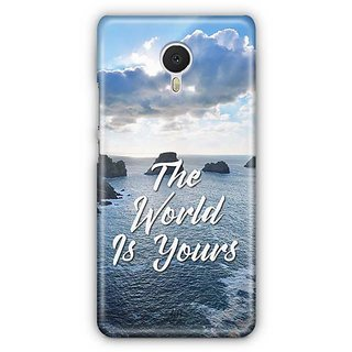 YuBingo The World is Yours Designer Mobile Case Back Cover for Meizu M3 Note