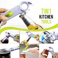 New 7 in 1 Multi-Function Bottle Can Jar Opener Cap Remover Kitchen Cooking Tool