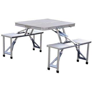Multipurpose Silver Metal Handy Folding Table 5 in 1