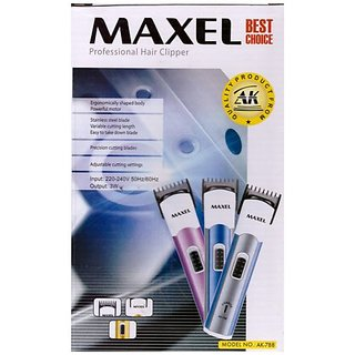 Maxel Professional Hair Trimmer Rechargeable Easy Beard cutter shaver