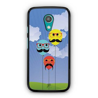 YuBingo Balloons with Moustaches Designer Mobile Case Back Cover for Motorola G2