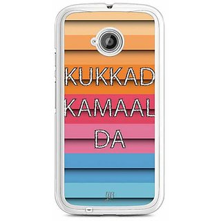 YuBingo Kukkad Kamaal Da Designer Mobile Case Back Cover for Motorola E2