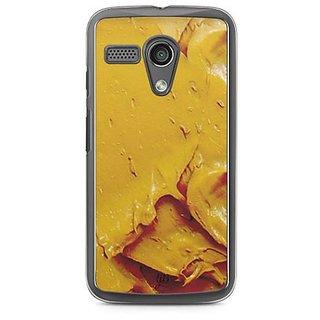 YuBingo Yellow Oil Paint Designer Mobile Case Back Cover for Motorola G