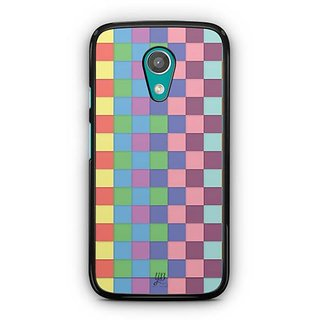YuBingo Colourful Square Patterns Designer Mobile Case Back Cover for Motorola G2